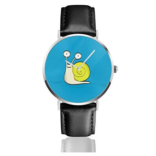 Relojes Anolog Negocio Cuarzo Cuero de PU Amable Relojes de Pulsera Wrist Watches Albert el Caracol