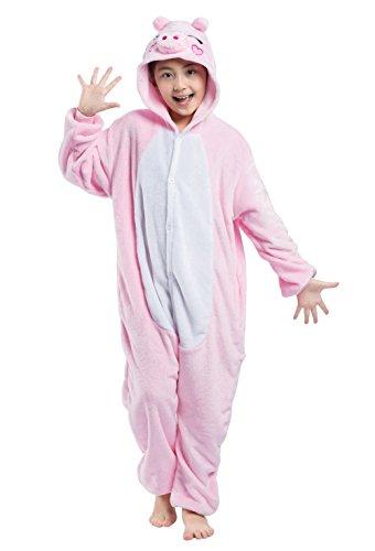 Disfraz Pijamas para Unisex Niños Animales de Vestuario Cerdo Rosa