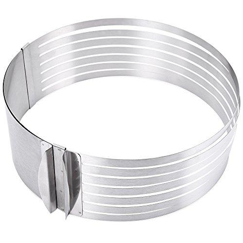 Ndier - Molde retráctil de acero inoxidable para cortar tartas