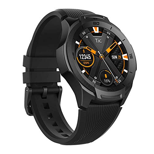 【2019最新版】TicWatch E2 スマートウォッチ Google Wear OS GPS 心拍計搭載 5ATM防水&水泳対応 多機能 フィットネス 腕時計 iPhone&Android対応 ブラック