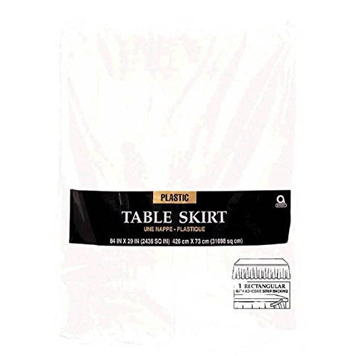amscan witte plissé kunststof tafel rok 4.26m x 73cm-6 Stks