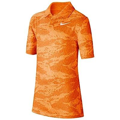 Nike Kids Boy's Dri-FIT Sport Print Polo (Little Kids/Big Kids) Total Orange/White SM (8 Big Kids)