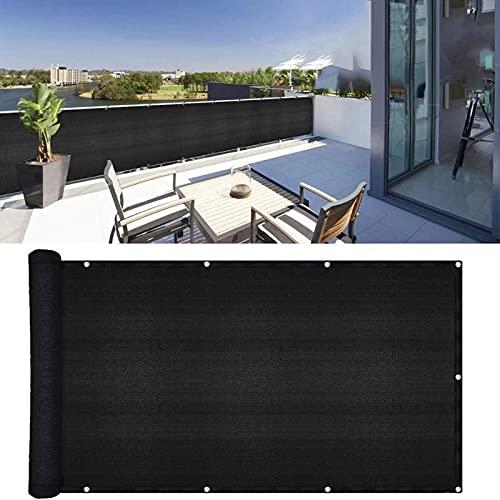 MKXF Sekretess skärm vindruta, nätstaket solskydd HDPE integritetsskydd balkongskydd (färg: Svart, storlek: 100 x 100 cm)