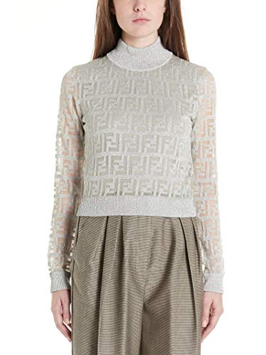Fendi Luxury Fashion dames FZY909AA5IF0H3 zilveren pullover |