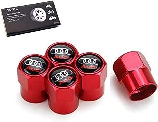 TK-KLZ 5Pcs Metal Car Wheel Tire Valve Stem Caps for Audi S Line S3 S4 S5 S6 S7 S8 A1 A3 RS3 A4 A5 A6 A7 RS7 A8 Q3 Q5 Q7 R8 TT Car Styling Decoration Accessories