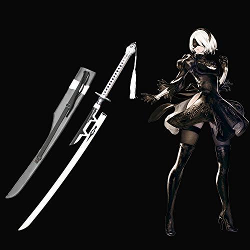 Yongli sword NieR Automata Yorha No.2 Type B 2B Sword Anime Game Carbon Steel Cosplay Sword (2B Virtuous Treaty)