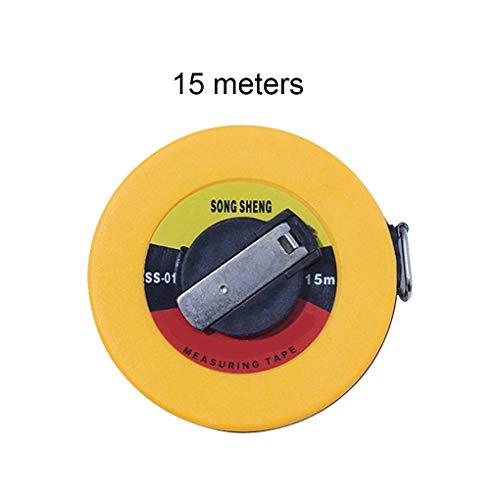Topker Fiberglas Bandmaß 10m / 15m / 20m / 30m / 50m Mess Soft-Lineal Bauvermessung Band, Mess Fiberglas Werkzeugvermessung