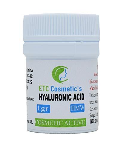 POLVO DE ÁCIDO HIALURÓNICO 1 g HMW (ALTO peso molecular) 100{eaca31ae40c086380eb1b3862f96b64e2969bbfea65aa8009823e7d21a2cd682} NATURAL y FUERTE Antienvejecimiento, rellenador de arrugas