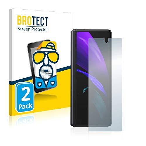 BROTECT 2X Entspiegelungs-Schutzfolie kompatibel mit Samsung Galaxy Z Fold 2 5G Bildschirmschutz-Folie Matt, Anti-Reflex, Anti-Fingerprint