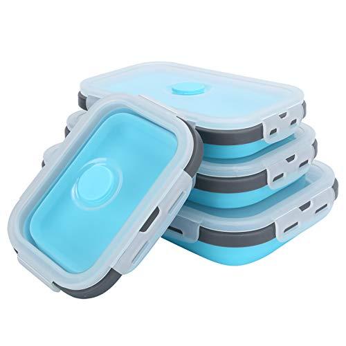 SALUTUYA Fiambrera Plegable portátil fácil de Limpiar Set Contenedor de Almacenamiento de Alimentos, para contenedores Escolares de preparación de Comidas para Acampar