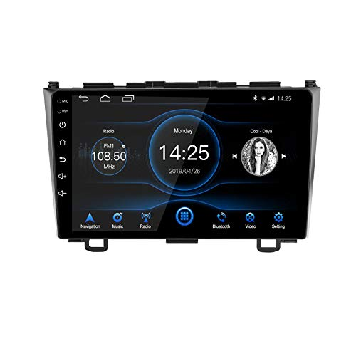 EZoneTronics 2 DIN 9 Zoll Android 10.1 Autoradio Stereo Head Unit passend für Honda CRV 2007-2011 mit Touchscreen High Definition GPS Navigation WiFi Bluetooth USB AM FM SWC Player 2G RAM + 16G ROM