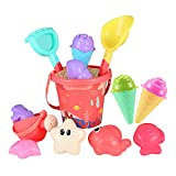 iBaseToy Beach Sand Toy, Ice Cream Mold Set for...