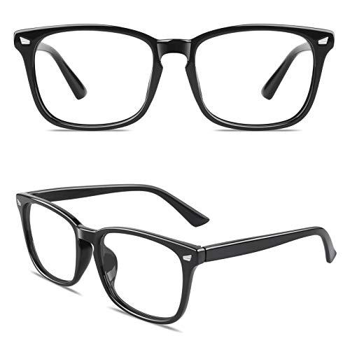 CGID CT82 Gafas con Cuernos Grandes para Protección contra Luz Azul, Consigues Dormir Mejor, Anti Fatiga por Deslumbramiento