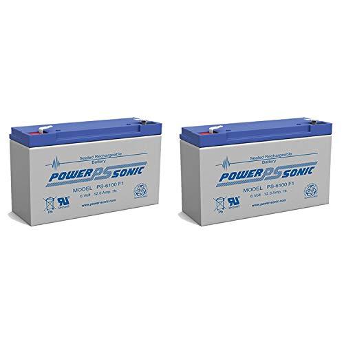 Power Sonic PS-6100 6V 12AH NPX-50 SLA10-6 BP10-6 GP6120 ES12-6 Battery - 2 Pack