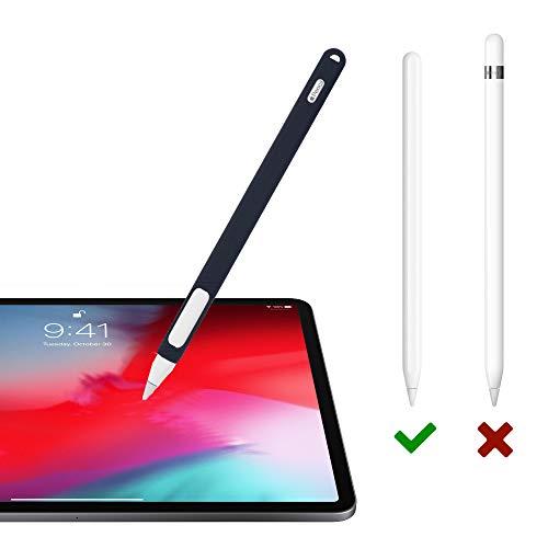 『Oumino Apple Pencil 2 ケース アップルペンシル 第2世代 カバー iPad Pro 11/12.9 ペンシル 適用 令和 シリコン ケース ペンホルダー 全面保護 紛失 落下防止 耐衝撃 軽量 超薄 充電可能 贈り物 (紺)』の1枚目の画像