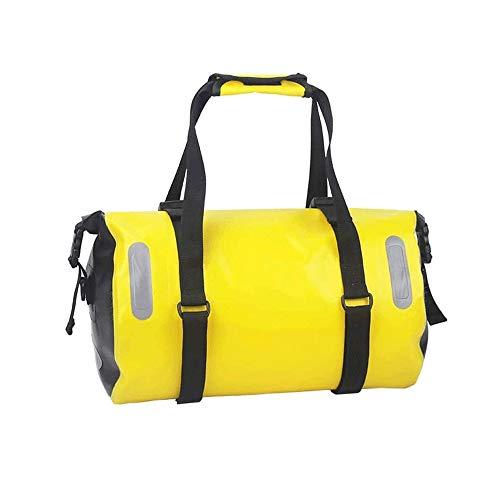 Sdesign Bicicletas bolsa trasera de gran capacidad, a prueba de agua bolsa de bicicletas for bicicletas asientos traseros con correa for el hombro, 18L Capacidad escalable, for conmutar, Viajes y picn
