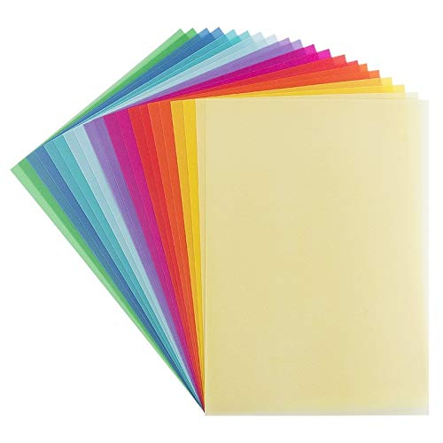 Pelikan Transparentpapier farbig sortiert 18,5x29,7cm 10 Blatt 137943