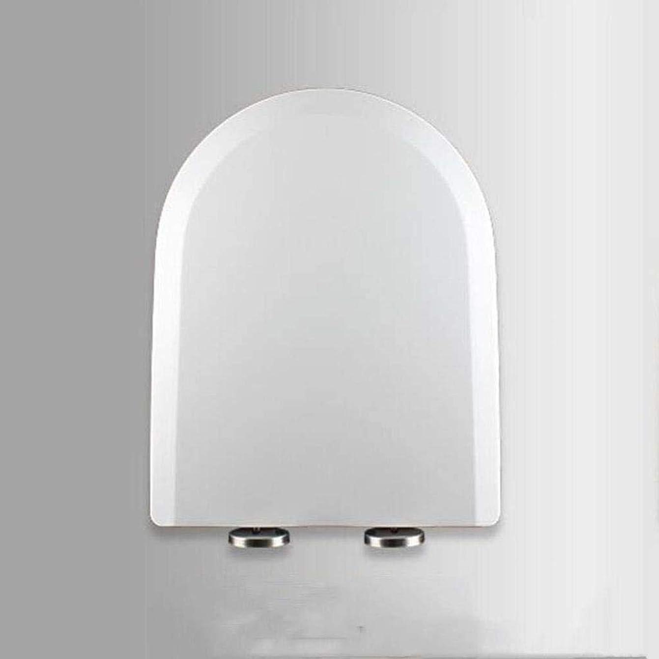 詳細なコショウ繊毛ZZLOUC 便座1パック便座U / Vシェイプソフトクローズアジャスタブルヒンジクイックリリーストップ固定便座カバーファミリー利用ホワイトトイレのふた、ホワイト、40?45C * 34センチメートル