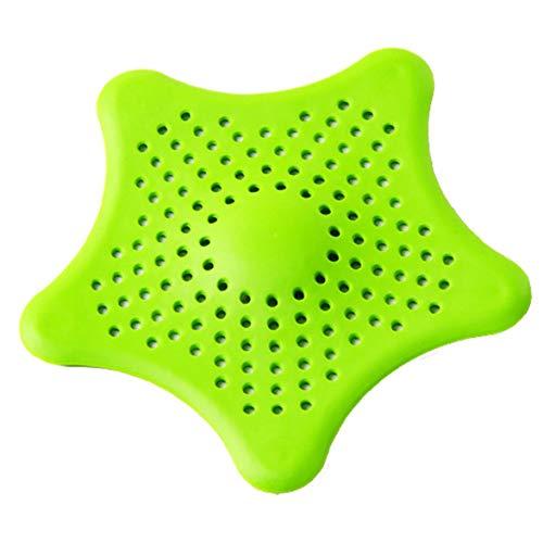 Sylvialuca Fünf-Punkt-Stern-Küchenspüle Anti-Verstopfung Bodenablauf Badezimmerfilternetz Silica Gel Bodenablauf