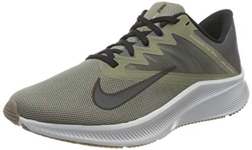Nike Men's Quest 3 Running Shoe, Lt Army Black Iron Grey Barely Green Pure Platinum Gum Dk Brown, 10 UK