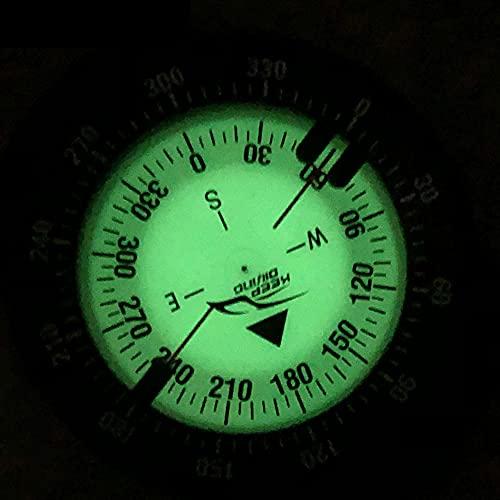 QINGCHU SOBW - Brújula de buceo impermeable, duradera, compacta, con correa de mano, brújula, impermeable, sumergible, reloj sumergible para vela, buceo