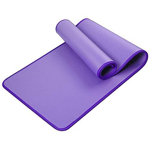 WEFH Nbr Yoga Mat Ribete Antideslizante Engrosamiento Fitness Estera Absorbente de Sudor Impermeable, Azul