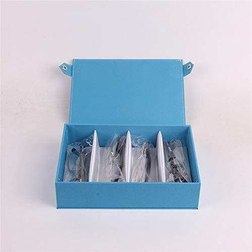 Yamyannie Caja de Almacenamiento de Gafas Unisex 4 Rejilla Multicolor Impermeable de Tela Oxford exhibición de los vidrios Caja de Almacenamiento para Gafas (Color : Azul, Size : 24cmx17.5cmx6cm)