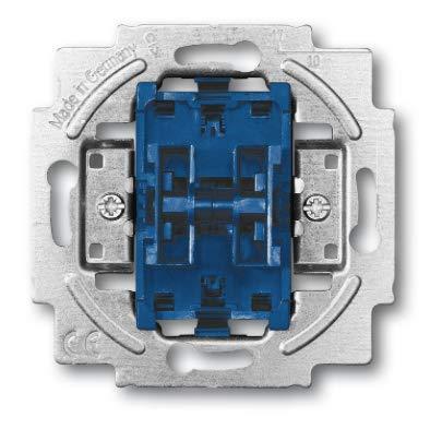 Busch Jäger Reflex SI alpinweiss Steckdosen Schalter Rahmen Wippen (2000/6/6 US-101, Wippschalter-Einsatz Wechsel/Wechsel-Schaltung, 1 Stück)