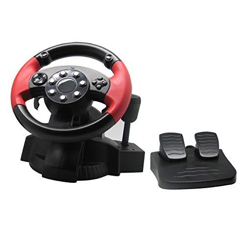 Prettyia Lenkrad mit Pedale Für PS3/PS2, Lenkrad Controller Zubehör für Konsole Auto Racing Simulator Fahren Spiele