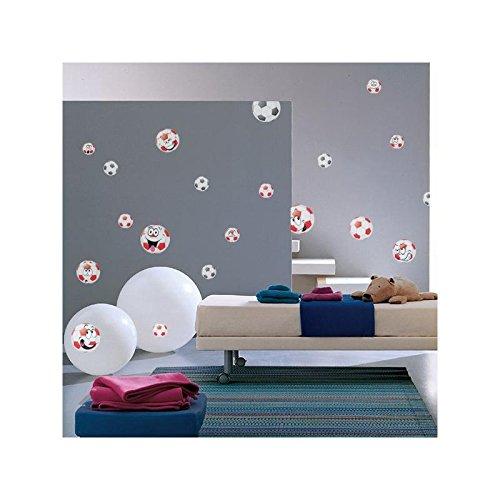 Sticker Panach Ballons Couleur - Taille - 110 x 110 cm diam petit ballon 15cm / grand 29cm