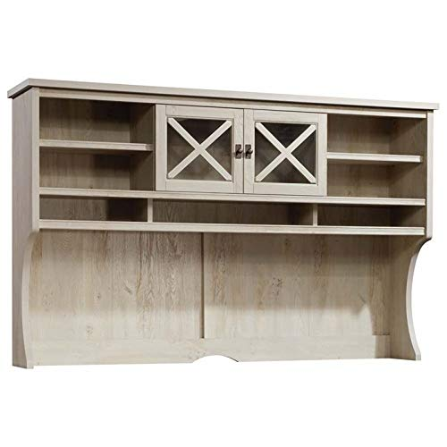 Sauder Costa L Shaped Computer Desk with Hutch in ...