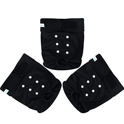 Washable Female Dog Diapers Black