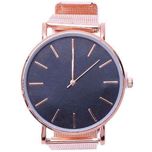 Kirmax Reloj De Pulsera De Cuarzo Analogico Fecha Deporte Jercito Reloj De Hombre De Acero Inoxidable Reloj Masculino Informal Reloj De Pulsera Oro Rosa Y Negro