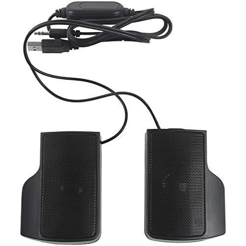 Huante Tragbarer USB Stereo Lautsprecher Fuer Notebook Laptop MP3 Telefon...