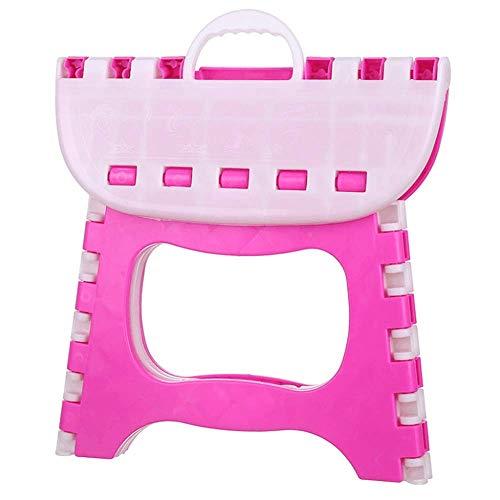HUIHUAN Taburete plegable Taburete acolchado portátil Taburete para niños Taburete plegable Mazar de pesca Banco pequeño de plástico al aire libre Taburete bajo Tren Mazar,Pink