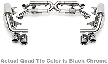 Fabspeed Valvetronic Exhaust Black Tips Compatible With Porsche 991 Carrera Standard S 3.8L 12-16