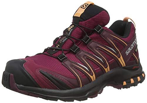 Salomon XA PRO 3D GTX W, Trail Running Shoe Uomo, Granata (Rhododendron/Winetasting/Cantaloupe), 38 2/3 EU