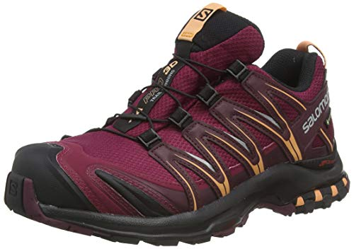 Salomon Damen Trail Running Schuhe, XA PRO 3D GTX W, Farbe: weinrot (rhododendron/winetasting/cantaloupe) Größe: EU 42 2/3