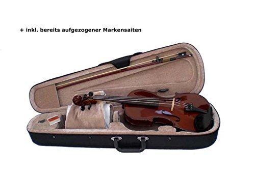 Sinfonie24 3/4 Einsteiger Bratschen-Set in Palisander (Basic II) inkl. Bogen, Koffer, Kolophonium und Markensaiten