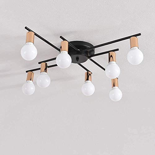 SKSNB Lámpara de Techo LED, Elegante lámpara de Techo Moderna, 6 Bombillas E27 Diseño, Sala de Estar, Dormitorio, luz de Techo [A + Energy]