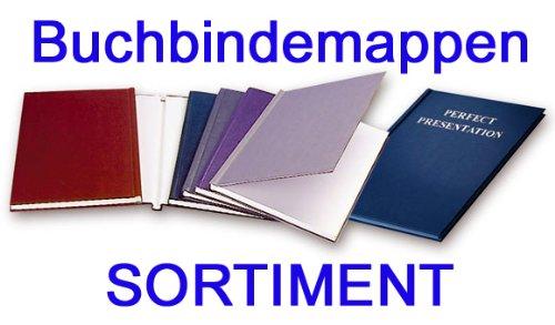 Buchbindemappen Thermo, 8er KOMBISET, Thermomappen Hard Cover, 12 - 80 Blatt