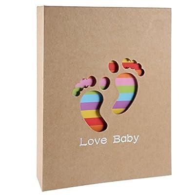 RYMALL Álbum de Fotos para bebé, Álbum de Memorias, Little Foot,para niño y niña, Regalos Originales y únicos con Recuerdos memorables, Álbum para 200 Fotos (23 x 19 cm)