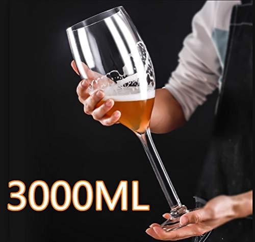 MOLLYNANA - Copa de Vino Gigante de 50 cm, 3000 ml, Cristal...