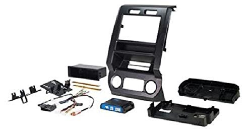 PAC RPK4-FD2201 Double DIN Dash Kit & Interface harness for Select 2015-2017 Ford F150-F550 Trucks,black