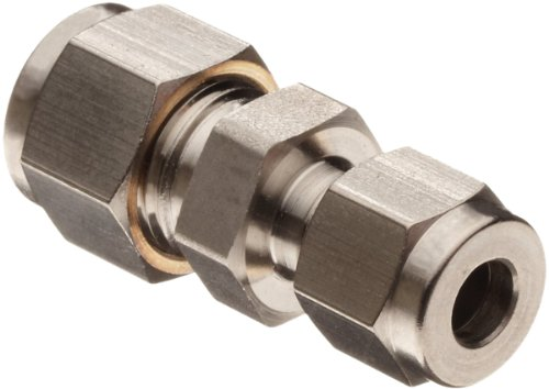 Parker A-Lok 4RU2-316 316 Stainless Steel Compression Tube Fitting, Reducing Union, 1/4