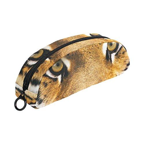 COOSUN Tiger Estuche Semicircular Papelería Bolso Bolsa Soporte Bolsa Maquillaje Bolsa Cosmética para Mujer Niña