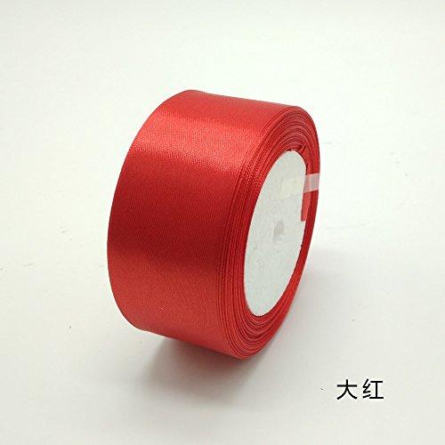 CaPiSo/® Ruban en Organza de 25 m de Largeur 4 cm de Largeur 40 mm avec Bordure tiss/ée Cadeau Ruban Organza D/écoration Mariage Rouge