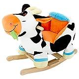 DODO D'AMOUR - Vache - Vache à bascule sonique - 054513 - 60 cm - Noire, blanche, orange - À Partir de 12 mois
