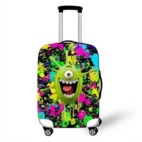 HANGYUN Spandex, protezione per bagagli da viaggio per ragazzi e ragazze, con chiusura lampo, colorata copertura per bagagli in cartone animato lavabile., Verde 1, XL(29-32inch),