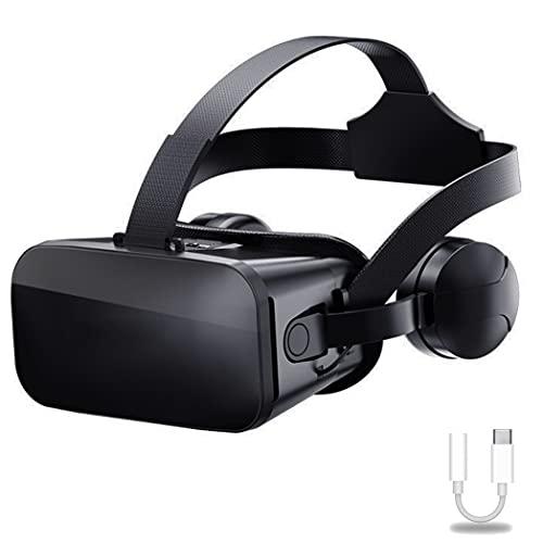 JYMYGS Nuovi Occhiali VR, Cuffie per Realtà Virtuale 3D Visore VR, Film di Gioco Tutto in Uno, Occhiali VR Nuovi Prodotti, Supporta Telefoni Cellulari da 4,7~6,1 Pollici (Color : A)